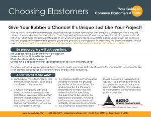 Guide to choosing elastomers - Rubber material selection guide by Aero Rubber