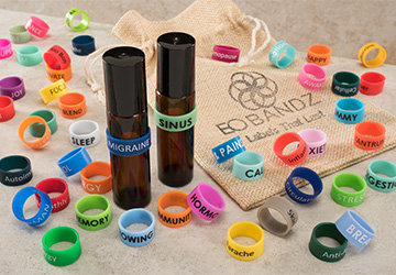 EO Bandz essential oil bottle band variety