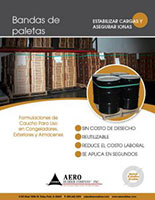 Pallet Bands Brochure Cover Spanish