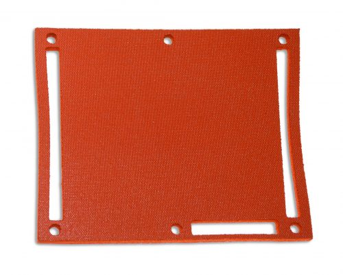 Red gasket with fabric finish