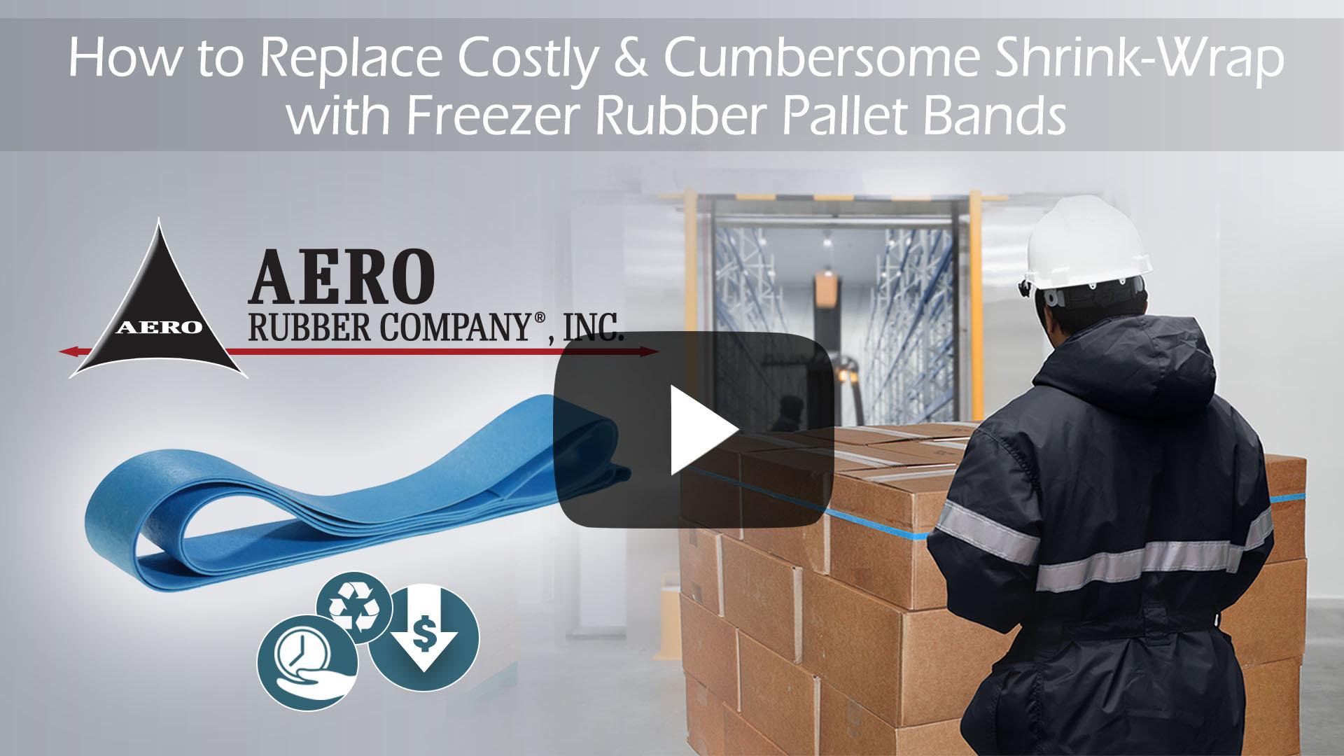 Freezer Rubber Pallet Bands Video