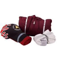 Hat and t-shirt bundle, hoodie bundle, & sock bundle.