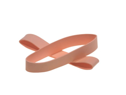 Non-Latex Rubber Bands 3.5″ Flat Length - Light Orange