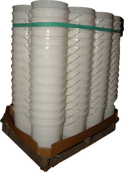 Pallet Bands Holding Buckets